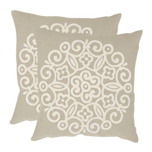 Joanna 2-piece 18'' x 18'' Throw Pillow Set