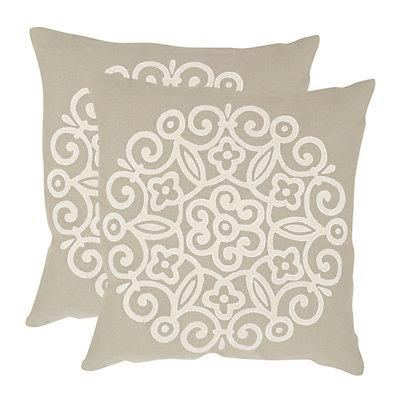 Joanna 2-piece 22'' x 22'' Throw Pillow Set