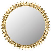 Safavieh Leaf Crown Starburst Wall Mirror