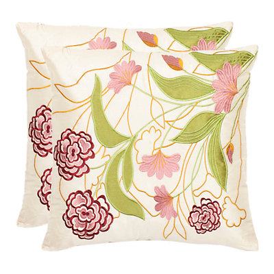 Ruby Floral 2-piece Throw Pillow Set