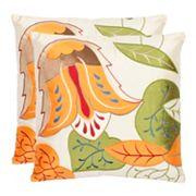 Floral Breeze 2 pc Throw Pillow Set