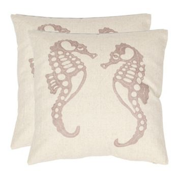 Kohls Nautical Throw Pillows : Dahli Seahorse 2-piece Throw Pillow Set