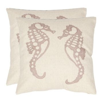 Dahli Seahorse 2-piece Throw Pillow Set