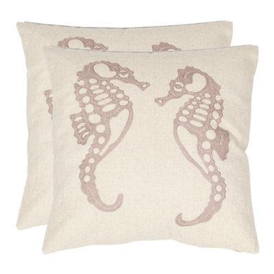 Dahli Seahorse 2-piece Throw Pillow Set