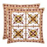 Gorgon Tiles 2-piece Throw Pillow Set
