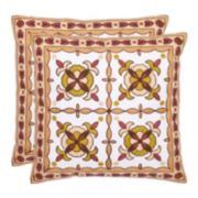 Gorgon Tiles 2-piece Throw Pillow Set