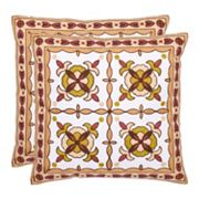 Gorgon Tiles 2 pc Throw Pillow Set