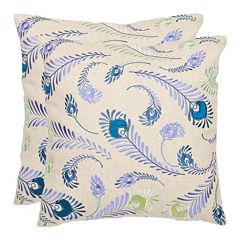 Lucky Feathers 2 pc Throw Pillow Set