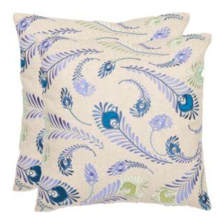 Lucky Feathers 2-piece Throw Pillow Set