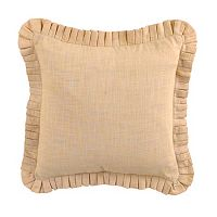 Waverly Cape Coral Pleated Reversible Throw Pillow
