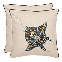 Sakura Ray 2-piece Throw Pillow Set