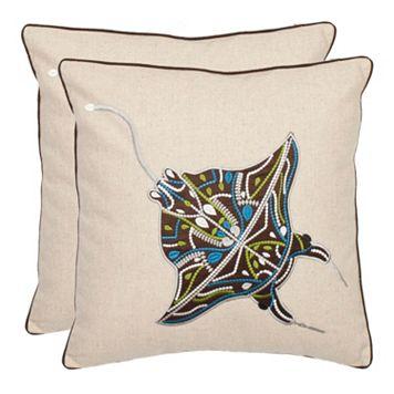 Sakura Ray 2-piece Throw Pillow Set