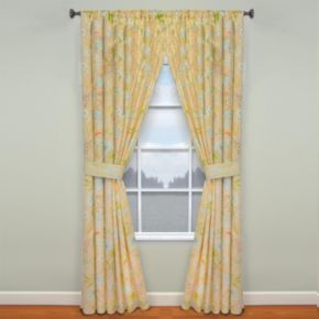 Waverly Cape Coral Window Curtain Pair - 50'' x 84''