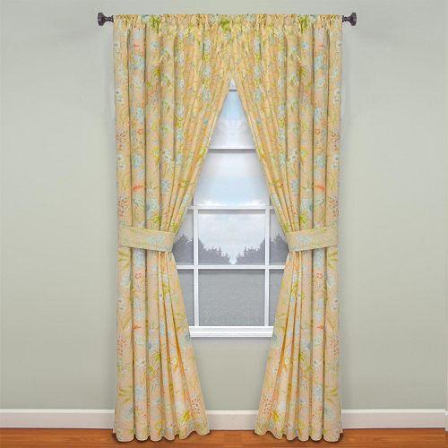 Waverly Cape Coral Window Curtain Pair - 50'' x 84''