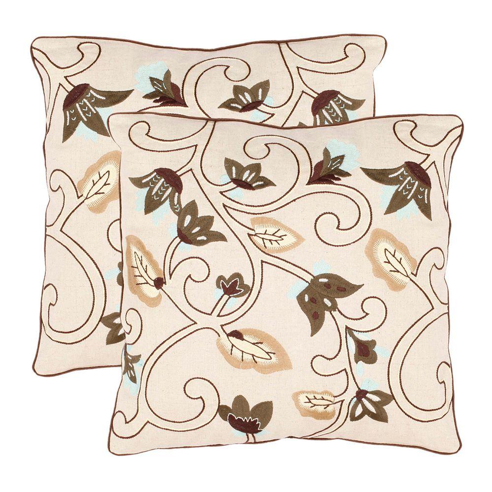 Floral Batik 2-piece Throw Pillow Set