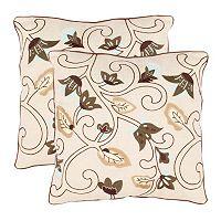 Floral Batik 2 pc Throw Pillow Set