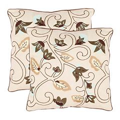 Floral Batik 2-piece Throw Pillow Set