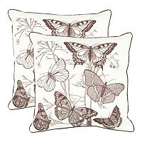 Flutter 2 pc Throw Pillow Set