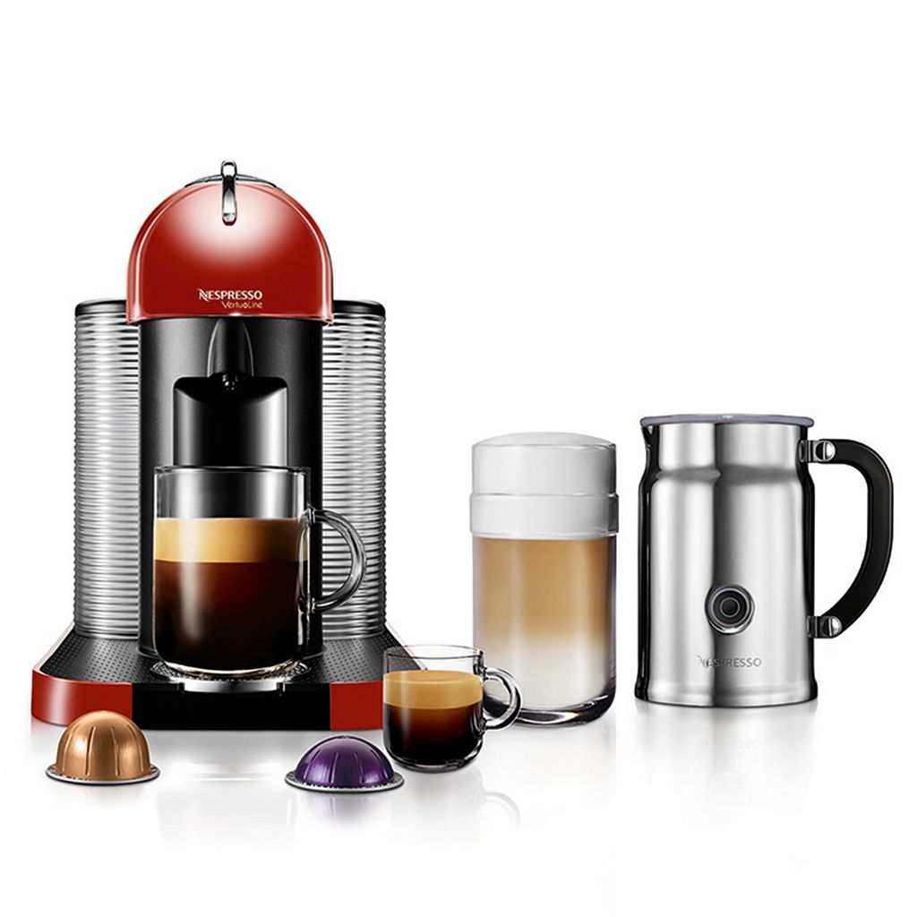 Nespresso VertuoLine Coffee & Espresso Machine with Aeroccino+ Milk Frother