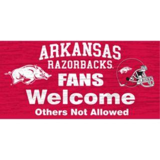 Arkansas Razorbacks Welcome Sign Wall Art