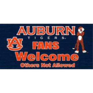 Auburn Tigers Welcome Sign Wall Art