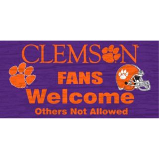 Clemson Tigers Welcome Sign Wall Art