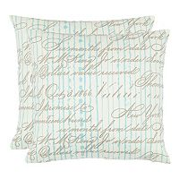 Camilla 2 pc Throw Pillow Set