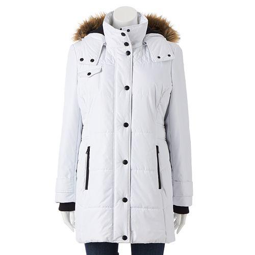 Women's Hemisphere Hooded Quilted Storm Coat