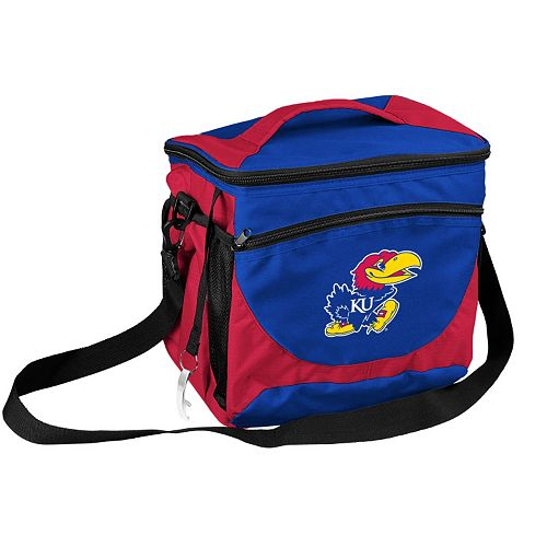 Logo Brand Kansas Jayhawks 24-Can Cooler