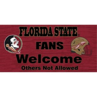 Florida State Seminoles Welcome Sign Wall Art