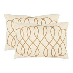 Suzy 2 pc White Throw Pillow Set