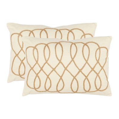 Suzy 2-piece White Throw Pillow Set