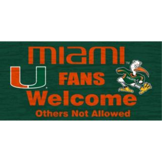 Miami Hurricanes Welcome Sign Wall Art