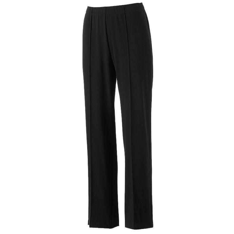 Sag Harbor Pull On Straight Leg Pants Women S