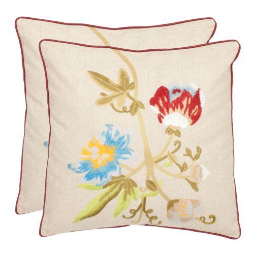 Pima Floral 2-piece Throw Pillow Set