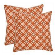Alice 2 pc Throw Pillow Set