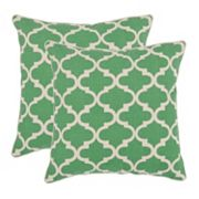 Suzy 2 pc Green Throw Pillow Set