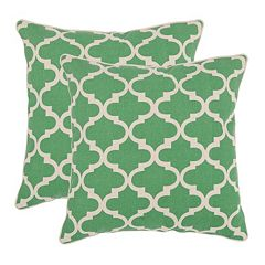 Suzy 2-piece Green Throw Pillow Set