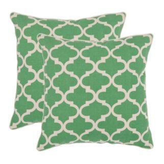 Suzy 2-piece Green Throw Pillow Set