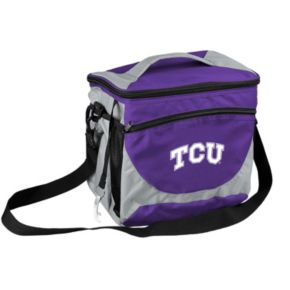 Logo Brand TCU Horned Frogs 24-Can Cooler