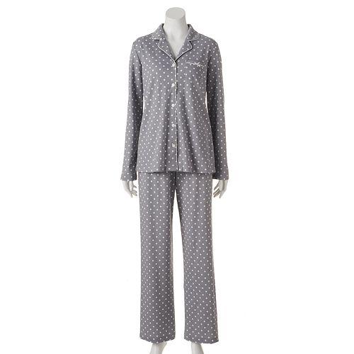 Women's Croft & Barrow® Pajamas: Knit Pajama Gift Set
