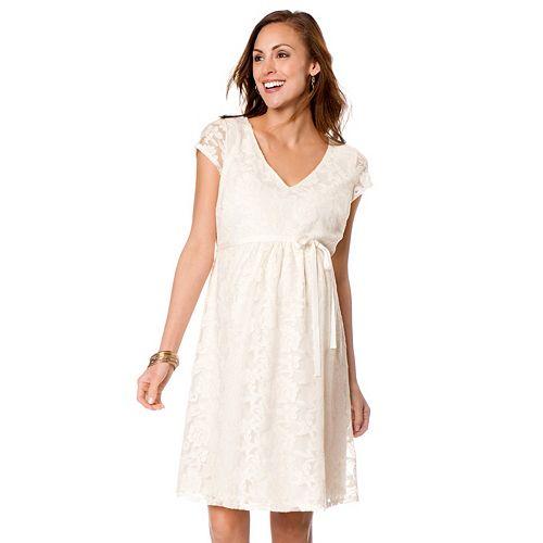 54ce5106cb6 Maternity Oh Baby by Motherhood™ Lace Babydoll Dress