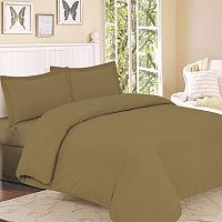 Flannel Solid 3 pc Duvet Cover Set - Queen