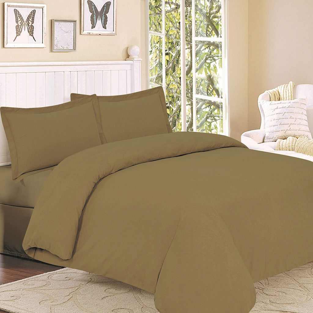 Flannel Solid 3-pc. Duvet Cover Set - King