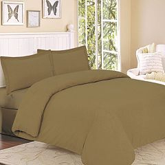 Flannel Solid 3-pc. Duvet Cover Set - King