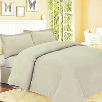 Flannel Solid 3 pc Duvet Cover Set - King