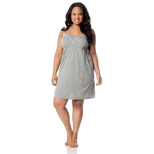 Plus Size Maternity Oh Baby By Motherhood Nursing Gown Robe Set