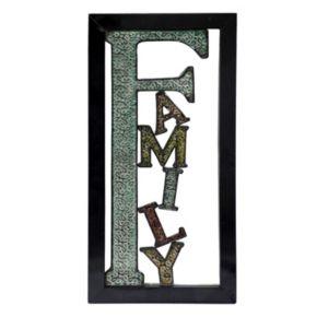 ''Family'' Metal Wall Decor