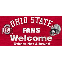 Ohio State Buckeyes Welcome Sign Wall Art