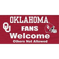 Oklahoma Sooners Welcome Sign Wall Art